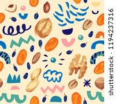 seamless hand draw pattern with ... | Shutterstock .eps vector #1194237316