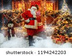 portrait of good old santa... | Shutterstock . vector #1194242203