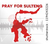 pray for donggala sulawesi  the ... | Shutterstock .eps vector #1194243226