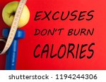 excuses don't burn calories... | Shutterstock . vector #1194244306