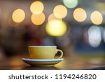 coffee milk and foam with bokeh ... | Shutterstock . vector #1194246820