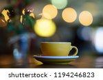 coffee milk and foam with bokeh ... | Shutterstock . vector #1194246823