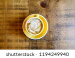 coffee latte from above  | Shutterstock . vector #1194249940
