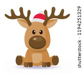 Cartoon Christmas Deer Vector...