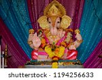 lord ganesh beautifull statue... | Shutterstock . vector #1194256633