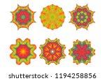 geometric design  mosaic of a... | Shutterstock .eps vector #1194258856