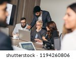 group of business people... | Shutterstock . vector #1194260806