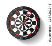 volume target icon in flat... | Shutterstock .eps vector #1194261346