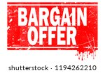 bargain offer word in red frame ... | Shutterstock . vector #1194262210