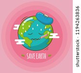 save earth from global warming | Shutterstock .eps vector #1194263836