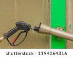 black handle of car wash high...   Shutterstock . vector #1194264316