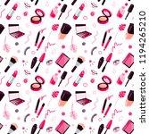cosmetics seamless pattern | Shutterstock .eps vector #1194265210