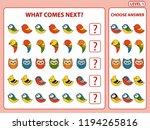 set of tasks for the... | Shutterstock .eps vector #1194265816