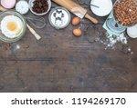 home baking kitchen setting... | Shutterstock . vector #1194269170