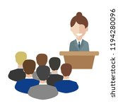 female speaker doing... | Shutterstock .eps vector #1194280096