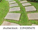 garden walk way with stone in... | Shutterstock . vector #1194285670