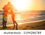 happy couple on nature in the... | Shutterstock . vector #1194286789
