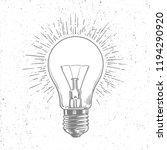 sketch light bulb on grunge... | Shutterstock .eps vector #1194290920