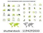 building icons set. vector... | Shutterstock .eps vector #1194292033