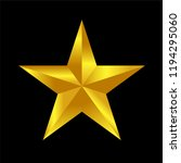 gold star rating vector  icon... | Shutterstock .eps vector #1194295060