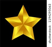 gold star icon isolated vector... | Shutterstock .eps vector #1194295063