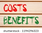 costs and benefits written on... | Shutterstock . vector #1194296323
