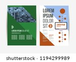 vector brochure template design ... | Shutterstock .eps vector #1194299989