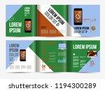 vector brochure template design ... | Shutterstock .eps vector #1194300289