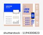 vector brochure template design ... | Shutterstock .eps vector #1194300823
