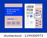 vector brochure template design ... | Shutterstock .eps vector #1194300973