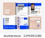 vector brochure template design ... | Shutterstock .eps vector #1194301180