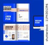 vector brochure template design ... | Shutterstock .eps vector #1194301396