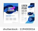 vector brochure template design ... | Shutterstock .eps vector #1194303016