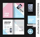 vector brochure template design ... | Shutterstock .eps vector #1194303346