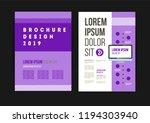 vector brochure template design ... | Shutterstock .eps vector #1194303940