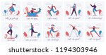 vector illustrations of healthy ... | Shutterstock .eps vector #1194303946