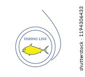 icon of fishing line. thin line ... | Shutterstock .eps vector #1194306433