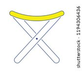 icon of fishing folding chair.... | Shutterstock .eps vector #1194306436