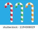 candy cane. christmas candy.... | Shutterstock .eps vector #1194308029