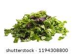 lettuce leaves isolated on... | Shutterstock . vector #1194308800