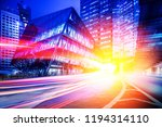 speed motion in the city | Shutterstock . vector #1194314110