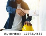 successful deal  male architect ... | Shutterstock . vector #1194314656