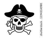 symbol jolly roger. icon pirate ... | Shutterstock .eps vector #1194314980