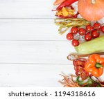 dried vegetables on the table | Shutterstock . vector #1194318616