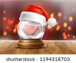 vector christmas snowglobe with ... | Shutterstock .eps vector #1194318703