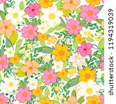 seamless pattern with... | Shutterstock . vector #1194319039
