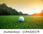 Golf Ball On Green In Beautiful ...