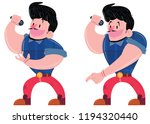 singer character singing and... | Shutterstock .eps vector #1194320440