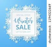 winter sale banner. origami... | Shutterstock .eps vector #1194322669
