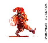 watercolor silhouette of santa... | Shutterstock .eps vector #1194324526